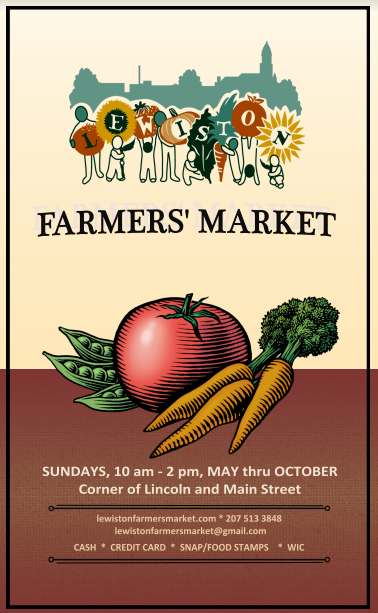 Lewiston Farmers Market 2019 Summer Poster